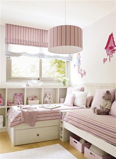 Ejemplos de habitaciones infantiles compartidas - Dormitorios infantiles pequenos ...