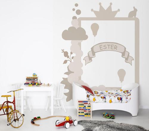 Murales infantiles hide seek en kaffeine decoideas net - Murales para ninas ...