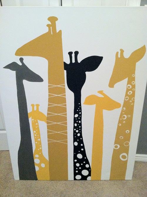 cuadros infantiles jirafas