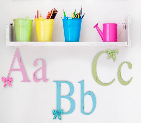 Letras de madera decorativas - Ideas para decorar letras de madera ...