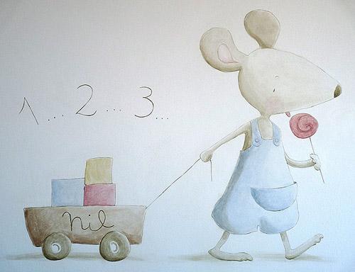 Murales pintados infantiles decoideas net for Murales decorativos para bebes