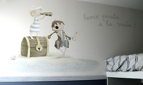 Erase una vez murales decorativos for Vinilos para pared habitacion matrimonio