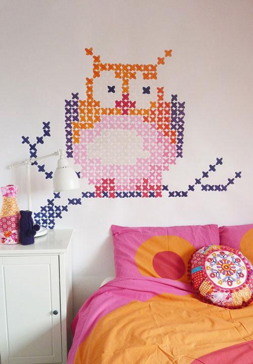 Pintar un bordado en la pared - Pintar paredes ideas ...
