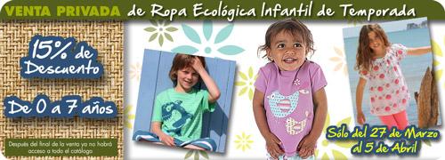Venta Privada de Ropa Ecológica Infantil