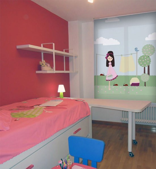 Cortinas estores for Cortinas habitacion infantil