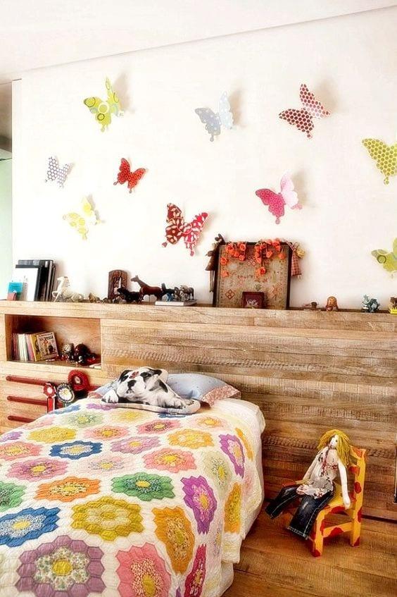 Habitaciones de niñas con mariposas