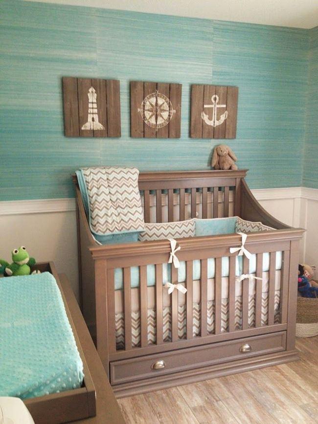 Decoración marinera para bebés niña