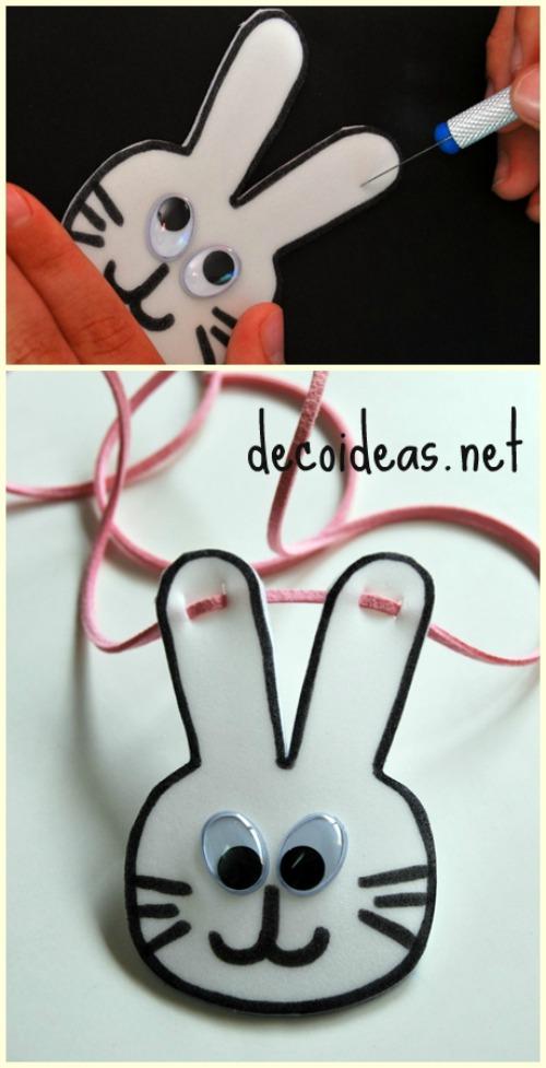 Cómo hacer un collar conejo de Pascua
