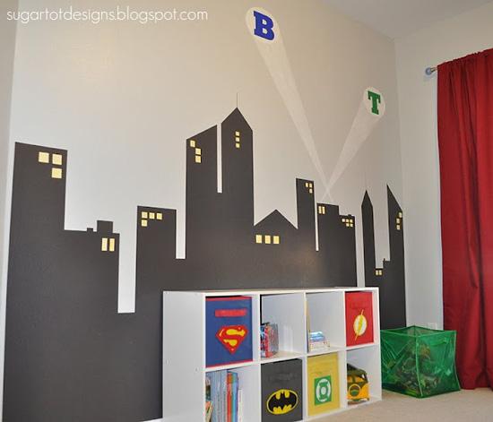 Mural de Super Heroes