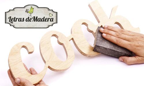 Como pintar letras de madera | Decoideas.Net
