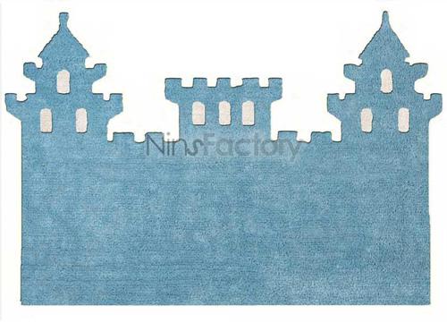 Alfombra infantil con forma de castillo