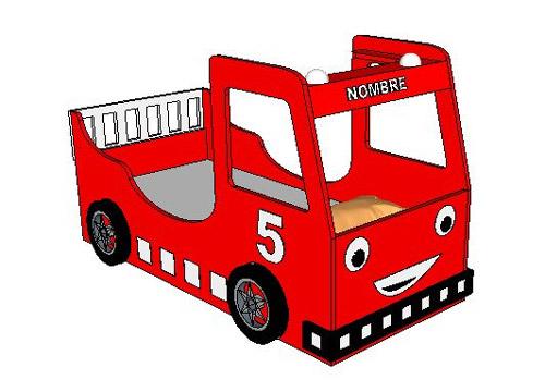 Diseño de cama Camión de Bomberos