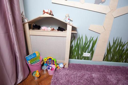 Original cubre radiador para un dormitorio infantil - Ideas para cubrir radiadores ...