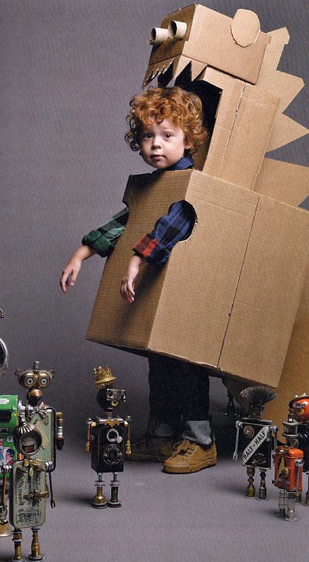 material reciclado solo necesitaras varias cajas de carton de
