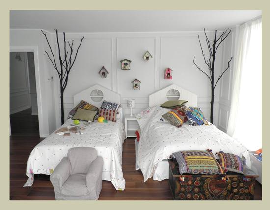 Un cabecero de cama original - Habitacion infantil dos camas ...