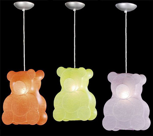 Iluminaci n infantil techo oso decoraci n infantil - Lamparas de techo para habitacion ...