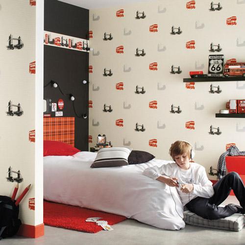 Papel pintado ni os - Papel pintado para dormitorio juvenil ...