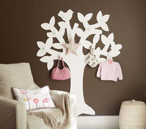 Arbol perchero decorativo for Como hacer percheros de madera de pared