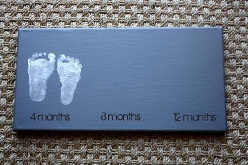 Cuadro para la habitaci n del beb - Cuadros de pies ...