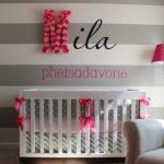 Gris y rosa para una habitación de bebé