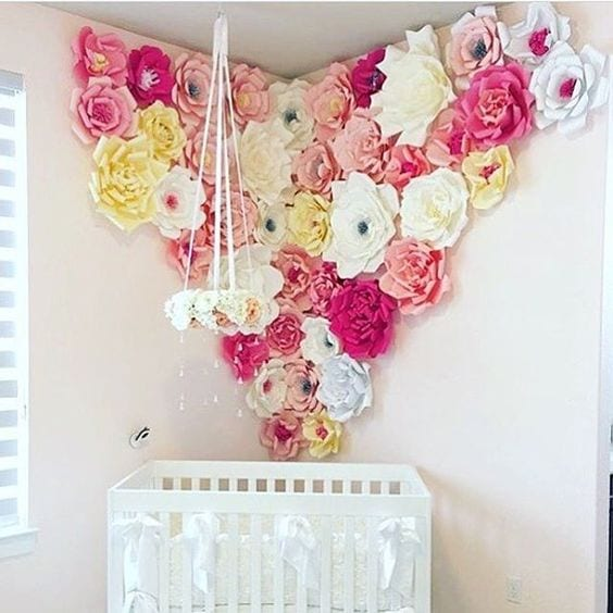 Flores De Papel Para Decorar Una Pared Idea Decorativa Low Cost