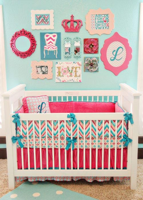 Ideas decoraci n beb s azul y rosa decoideas net - Ideas para decorar habitaciones de bebes ...