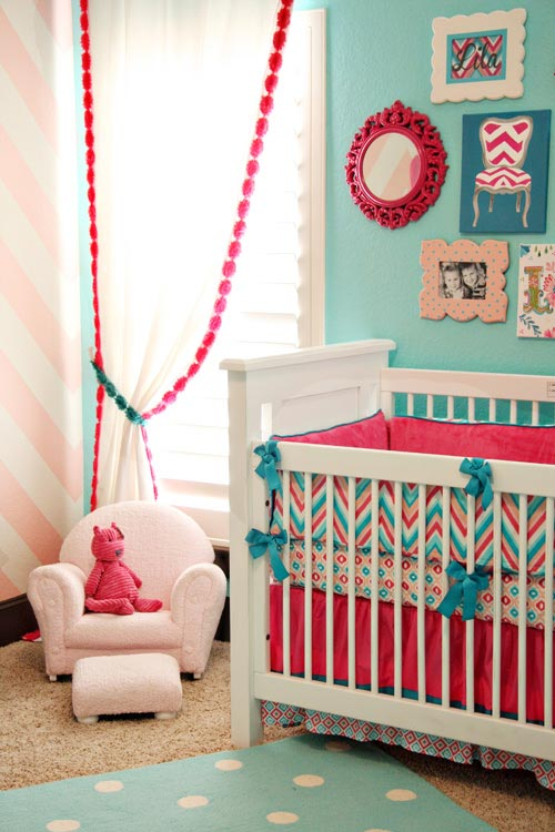 Ideas decoraci n beb s azul y rosa - Bebes y decoracion ...