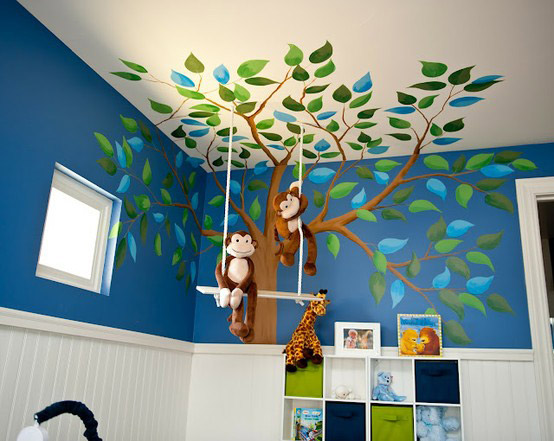Decorar Pared Arbol ~ MURALES PINTADOS INFANTILES  DECOIDEAS NET