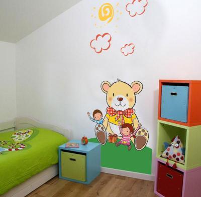 murales infantiles de papel
