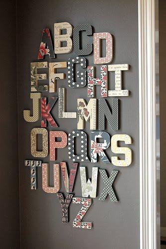 Letras Para Decorar Paredes - Decorar-paredes-con-letras