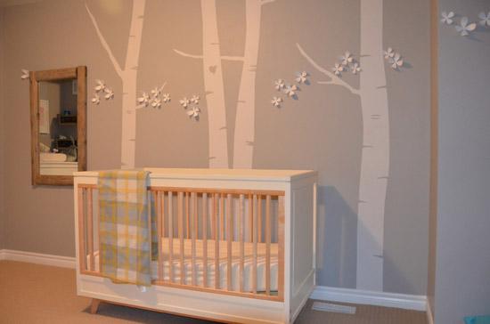 Habitaciones de beb s decoradas con rboles - Decorar paredes habitacion bebe ...