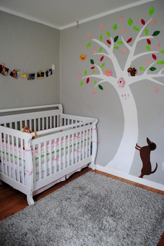 Habitaciones de beb s decoradas con rboles - Habitaciones decoradas para bebes ...