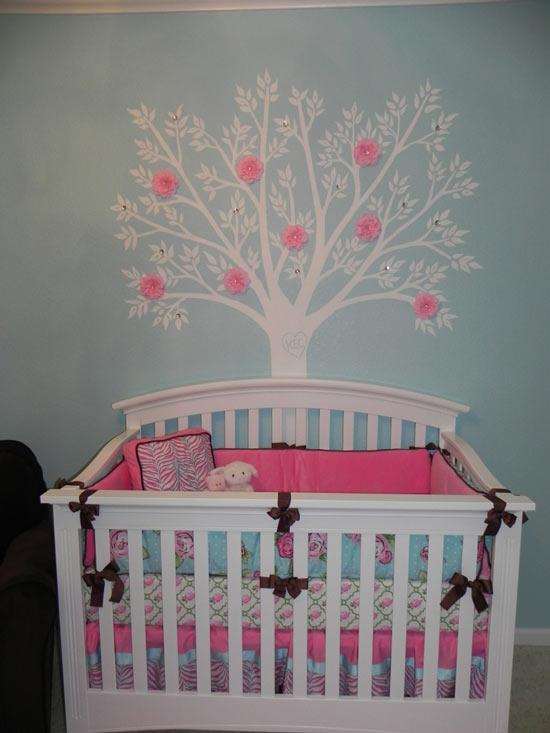 Habitaciones de beb s decoradas con rboles - Decoraciones de habitaciones de bebe ...