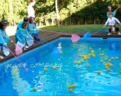 Fiesta infantil de sirenas - Juegos de decorar la casa de barbie con piscina ...