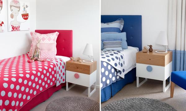 Dormitorio rosa o azul Habitaciones juveniles rosa