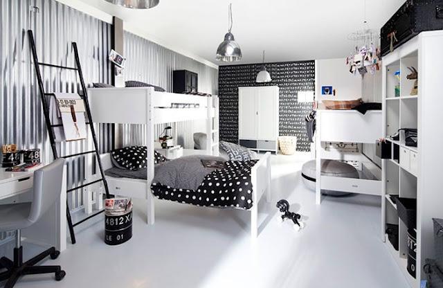 Tencencia habitaciones juveniles en blanco y negro decoideas net - Accessoire room ...