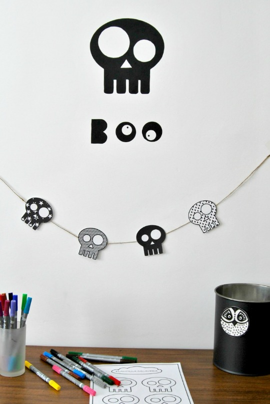Manualidades decoraci n calaveras decoideas net for Decoracion halloween manualidades