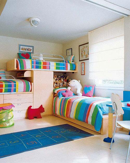 Dormitorios para tres hermanos decoideas net - Habitaciones para tres ...