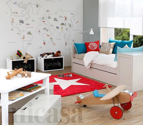 Murales infantiles mapamundi for Papel para empapelar habitaciones