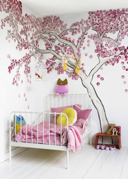 Murales infantiles con rboles for Murales decorativos para bebes
