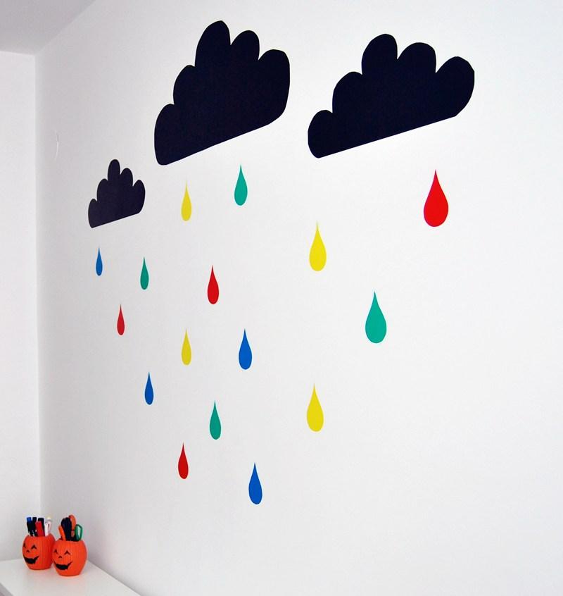 Hazlo t mismo vinilo nubes - Forrar paredes con vinilo ...