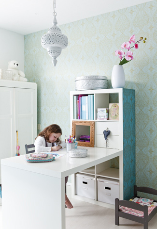 Ideas para zonas de estudio for Escritorio infantil ikea