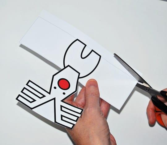 Plantilla renos imprimir