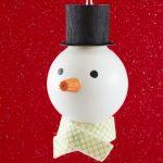 Como hacer muñecos de nieve con bombillas