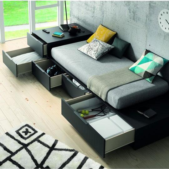 Muebles juveniles modernos for Sillon cama juvenil