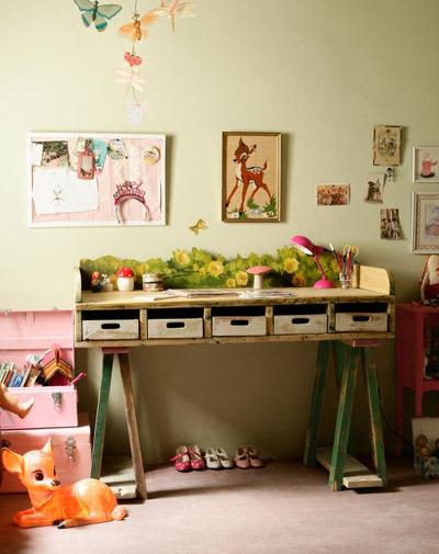 Zonas de estudio para habitaciones infantiles