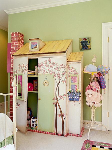 Un armario para una habitación de cuento