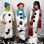 Disfraz rápido de muñeco de nieve