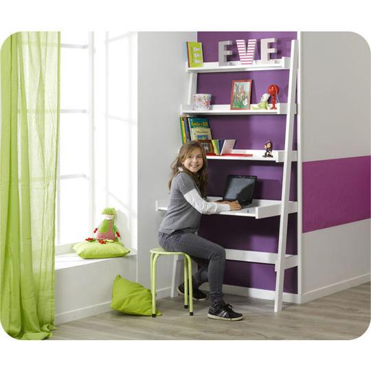 Escritorio estanter a para habitaciones peque as - Habitaciones pequenas para ninas ...