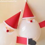 Papá Noel con globos